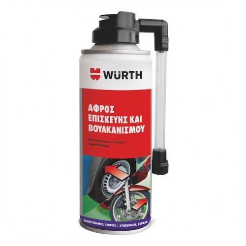 Wurth Σετ φουσκώματος και επισκευής ελαστικών για αυτοκίνητα και μοτοσικλέτες 200ML