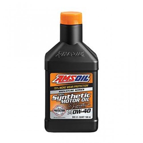 AMSOIL SIGNATURE SERIES 0W40 SYNTHETIC MOTOR OIL