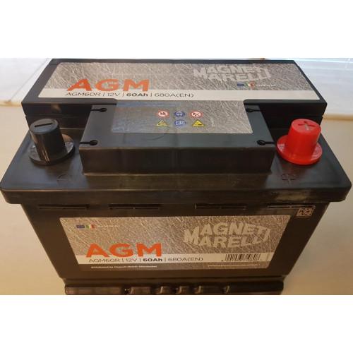 Μπαταρία MAGNETI MARELLI AGM60R 60AΗ 680A 242X175X190
