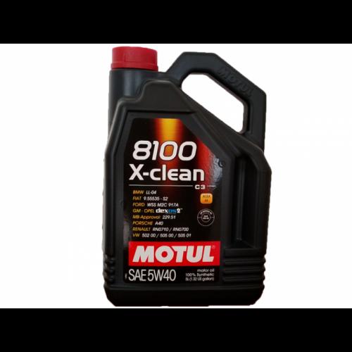 MOTUL 8100 X-clean 5W-40 C3 5LT