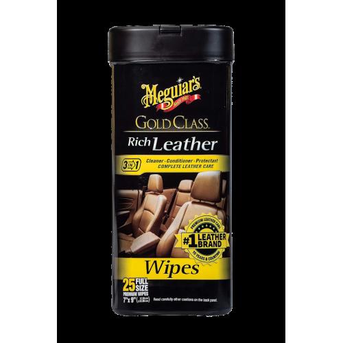 Meguiars Gold Class Rich Leather Wipes 3in1 ΕΜΠΟΤΙΣΜΕΝΑ ΜΑΝΤΗΛΑΚΙΑ ΠΕΡΙΠΟΙΗΣΗΣ ΔΕΡΜΑΤΟΣ 3ΣΕ1 272 G