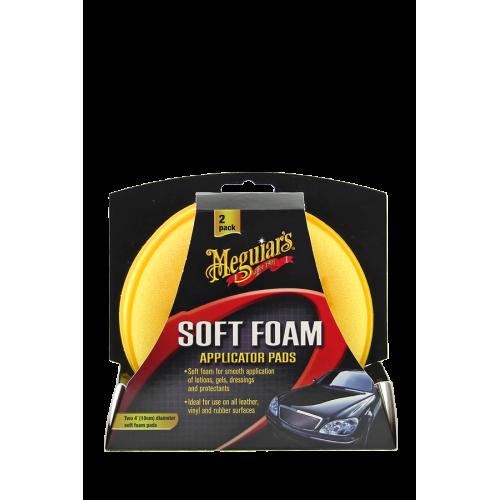 Meguiars Soft Foam Applicator Pads ΚΙΤΡΙΝΑ ΣΦΟΥΓΓΑΡΑΚΙΑ ΕΦΑΡΜΟΓΗΣ (2ΤΜΧ)
