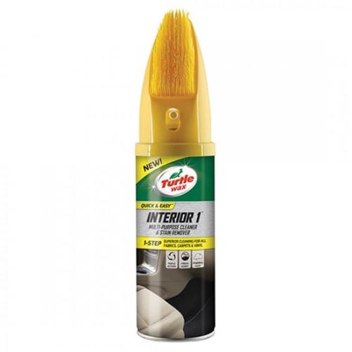 Καθαριστικό ταπετσαρίας INTERIOR 1 aerosol with brush 400ml, TURTLE WAX