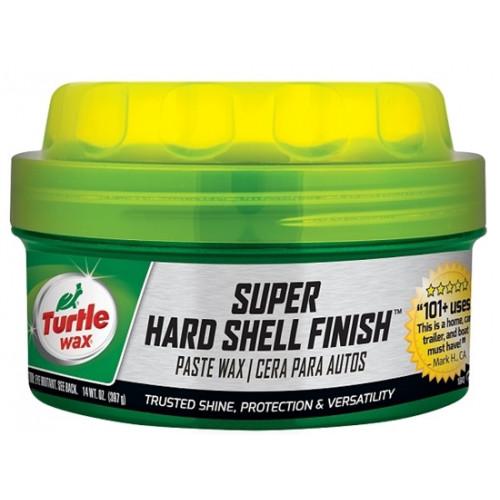 Κερί γυαλίσματος σε πάστα Super Hard Shell Finish 397ml, paste wax with sponge, TURTLE WAX