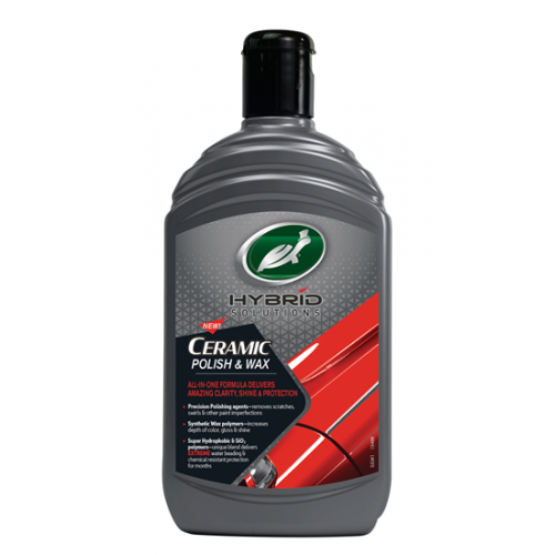 Υγρό κερί γυαλίσματος & προστασίας CERAMIC Polish & Wax 500ml, TURTLE WAX