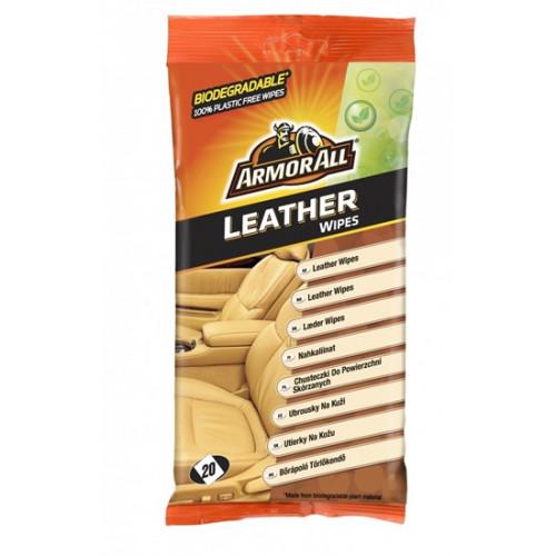 Υγρά μαντηλάκια για δέρματα Leather flow wipes 20 τεμ., ARMOR ALL