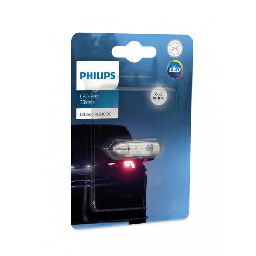 Λάμπα Philips Festoon Ultinon Pro3000 Led 38mm 6000K 12V 0.6W