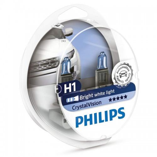Λάμπες Philips H1 12V 55W Crystal Vision 4300K
