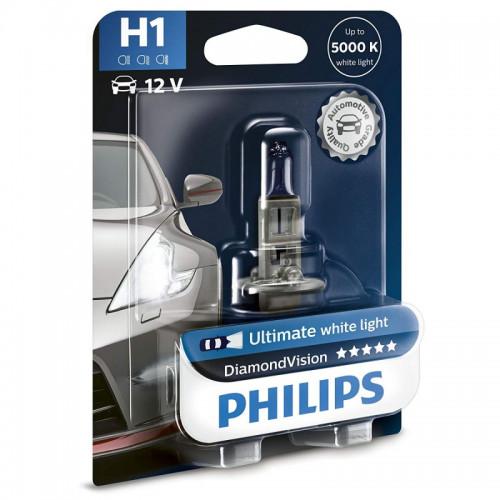 Λάμπα Philips H1 12V 55W Diamond Vision 5000K