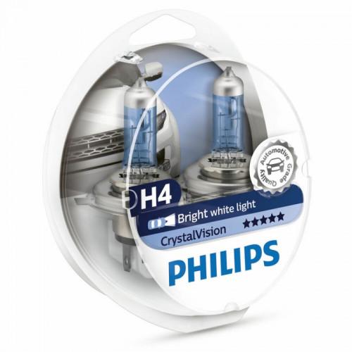 Λάμπες Philips H4 Crystal Vision 12V 60/55W 4300K