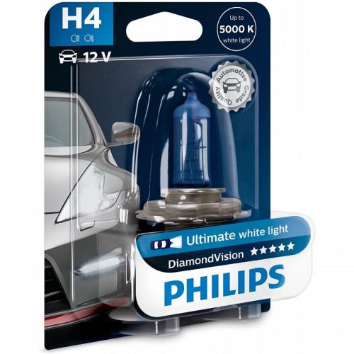Λάμπα Philips H4 12V 60/55W Diamond Vision 5000K