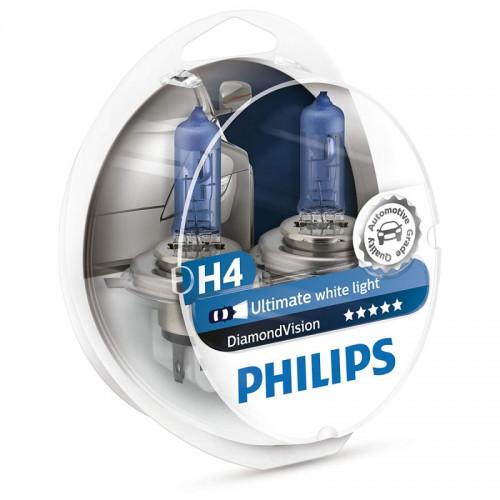 Λάμπες Philips H4 12V 60/55W Diamond Vision 5000K