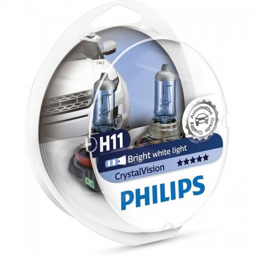 Λάμπες Philips H11 12V 55W Crystal Vision 4300K
