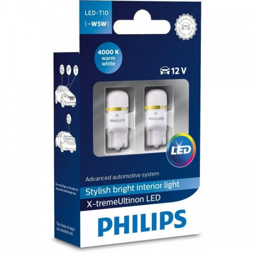 Λάμπες Philips T10 X-Treme Ultinon Led 4000K 12V