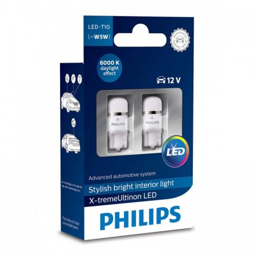 Λάμπες Philips T10 X-Treme Ultinon Led 6000K 12V 1W