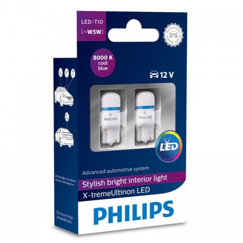 Λάμπες Philips T10 X-Treme Vision Led 8000K 12V 0.9 W