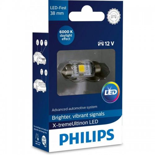 Λάμπα Philips Festoon X-Treme Ultinon Led 38mm 6000K 12V 1W