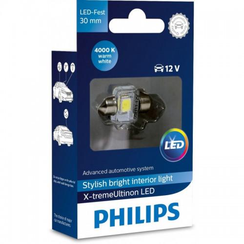 Λάμπα Philips Festoon X-Treme Ultinon Led 30mm 4000K 12V 1W