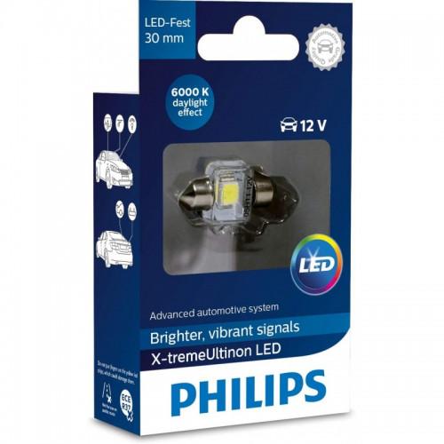 Λάμπα Philips Festoon X-Treme Vision Led 30mm 6000K 12V 1W