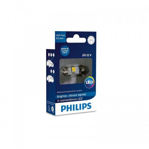 Λάμπα Philips Festoon X-Treme Vision Led 43mm 6000K 12V 1W