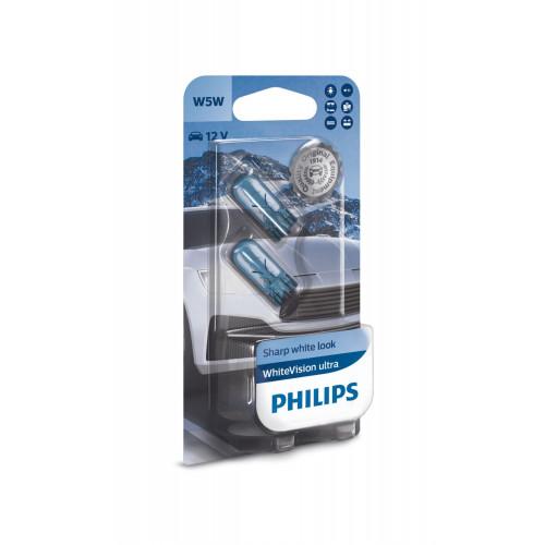 Λάμπες Philips W5W White Vision Ultra 12V 5W 3300K