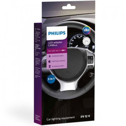 Αντάπτορες Συστήματος Canbus Philips για H4 Led 12V