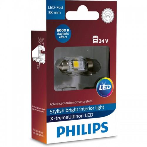 Λάμπα Philips Festoon X-Treme Ultinon Led 38mm 6000K 24V 1W