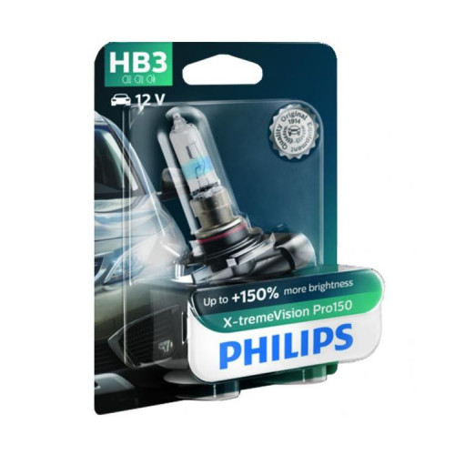 Λάμπα Philips HB3 X-treme Vision Pro150 12V 60W Έως 150% Περισσότερο Φως