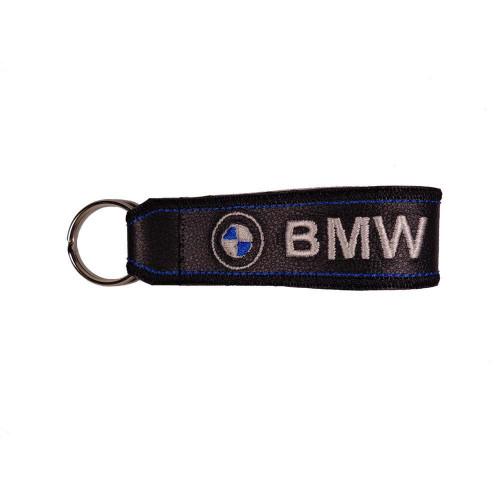 Μπρελόκ δερματίνης με κεντητό λογότυπο BMW