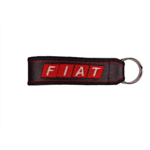 Μπρελόκ δερματίνης με κεντητό λογότυπο FIAT